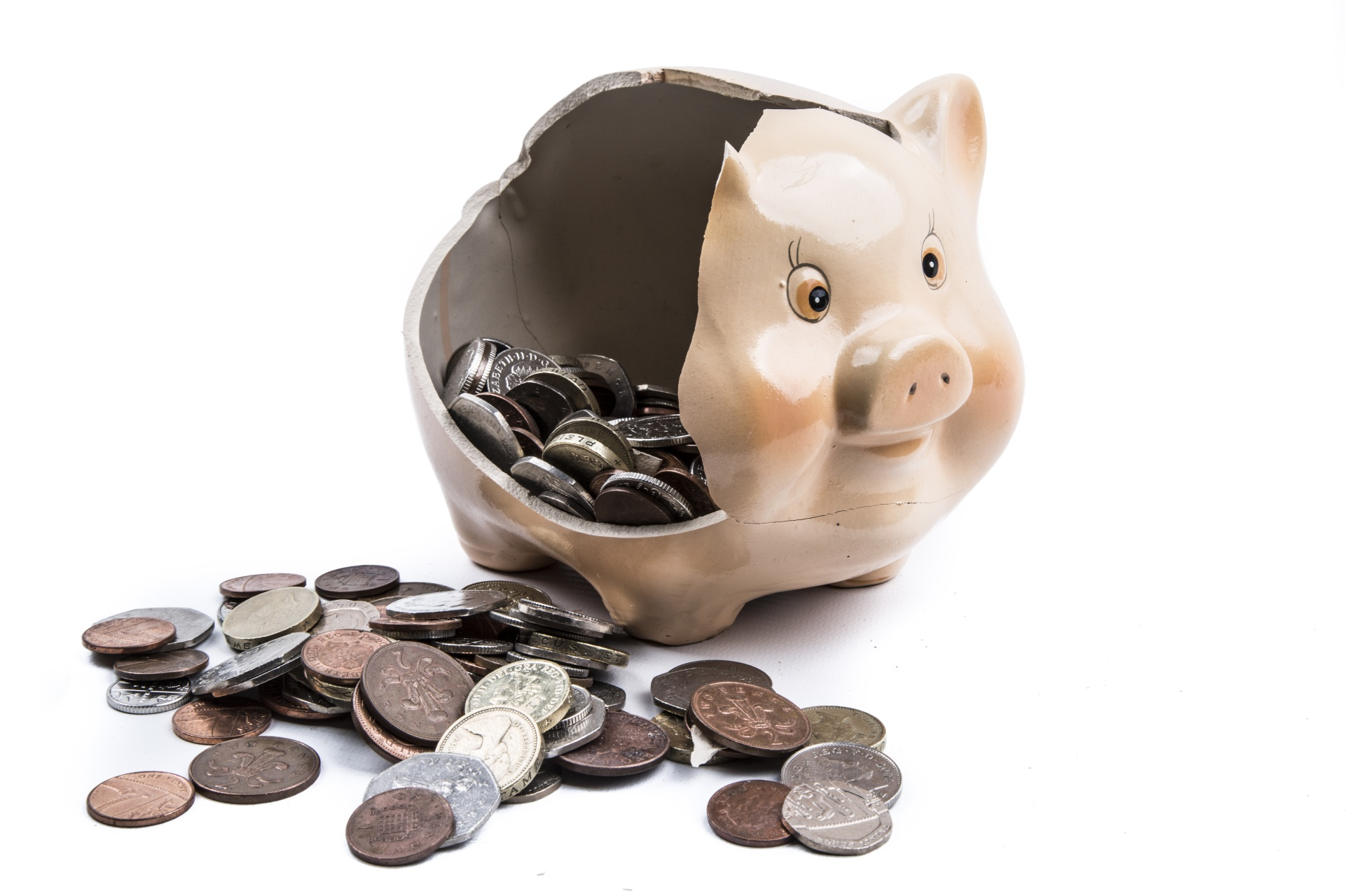 money-in-broken-piggy-bank
